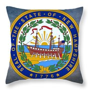The Great Seal Of The State Of New Hampshire Throw Pillow