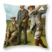 The Great Triumvirate Throw Pillow