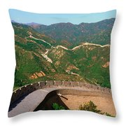 The Great Wall At Badaling In Beijing Throw Pillow