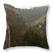 The Great Wall Of China At Badaling - 7  Throw Pillow