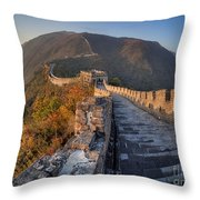 The Great Wall Of China Mutianyu China Throw Pillow