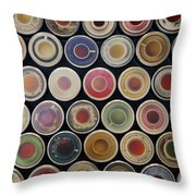 The Great Wall Of Tea Throw Pillow