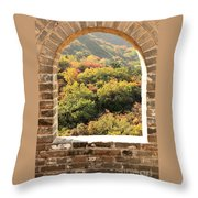 The Great Wall Window Throw Pillow