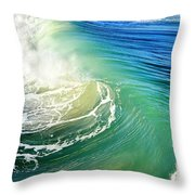 The Great Wave Throw Pillow by Laura Fasulo