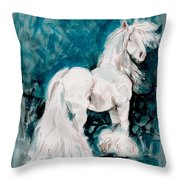 The Great White Throw Pillow