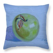 The Green Apple Throw Pillow