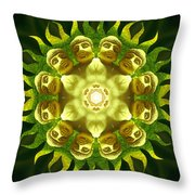 The Green Buddha Throw Pillow