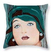 Green Cloche Throw Pillow