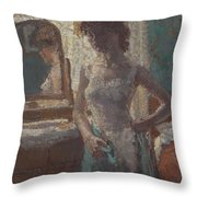 The Green Dress, 1908-09 Throw Pillow