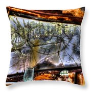 The Green Drinking Glass Onboard Throw Pillow