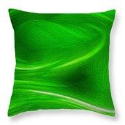 The Green Factor Throw Pillow