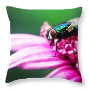 The Green Fly Throw Pillow