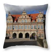 The Green Gate - Gdansk Throw Pillow