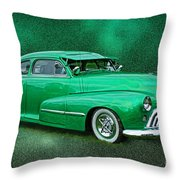 The Green Ghost Throw Pillow