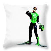 The Green Throw Pillow