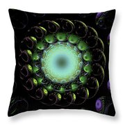 The Green Hole Throw Pillow