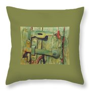 The Green Latch Throw Pillow