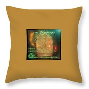 The Green Man - Recycle Throw Pillow