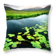 The Green Of Our Land Throw Pillow