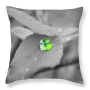 Green Pearl Throw Pillow