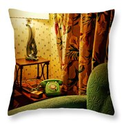 The Green Phone Throw Pillow