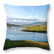 The Green River Throw Pillow