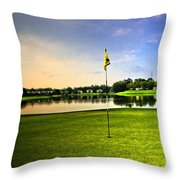 The Green Throw Pillow