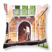 The Green Shutters - Venice Throw Pillow