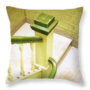 The Green Stairwell Throw Pillow