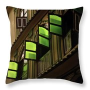 The Green Windows Throw Pillow