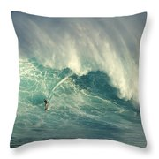 Surfing The Green Zone Throw Pillow