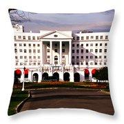 The Greenbrier Resort Throw Pillow