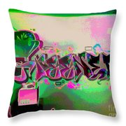The Greener Side Posterized And Framed Throw Pillow