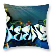 The Greener Side Under Water Throw Pillow