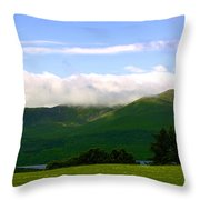 The Greens Of Ireland Throw Pillow