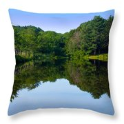 The Greens Of Summer Throw Pillow