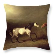 The Grey Arab Throw Pillow by Sawrey Gilpin