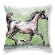 The Grey Arabian Horse 8 Throw Pillow