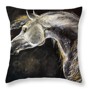 The Grey Arabian Horse 9 Throw Pillow