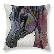 The Grey Horse Drawing 1 Throw Pillow