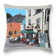 The Greyhound Bar Kinsale Throw Pillow