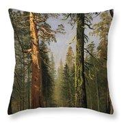 The Grizzly Giant Sequoia Mariposa Grove California Throw Pillow