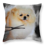 The Groomer Throw Pillow