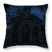 The Grotto By Moonlight Throw Pillow