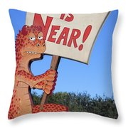 The Grouchy Prophet Throw Pillow