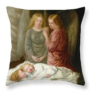 The Guardian Angels  Throw Pillow