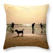 The Guardian Dog Throw Pillow