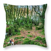 The Guardian Of The Dead Dragon Throw Pillow
