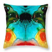 The Guardians - Visionary Art By Sharon Cummings Throw Pillow by Sharon Cummings