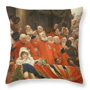 The Guards Cheer, 1898 Throw Pillow
